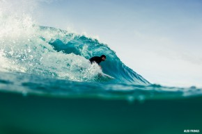 Dustin Hollick barrel Byron Bay