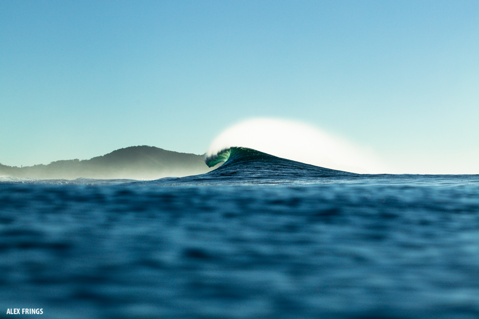 Byron Bay Winter Swell Barrel by Alex Frings