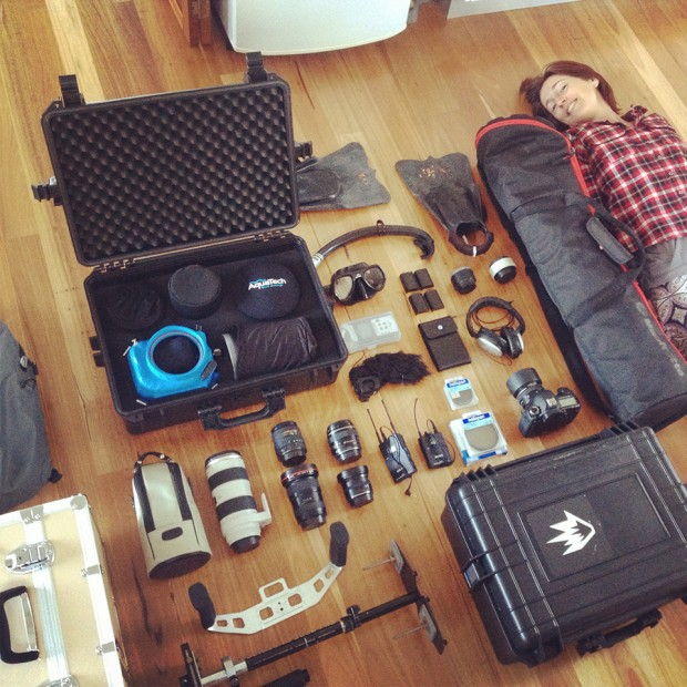 Alex Frings photography gear for mentawai trip + melissa norton
