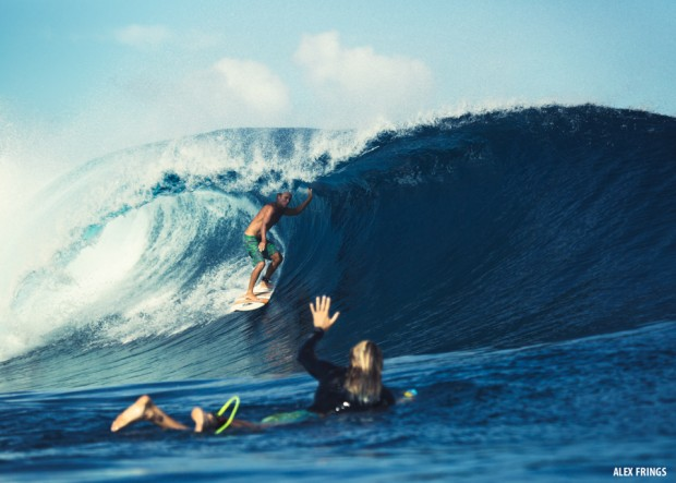 John Ocean getting barrelled at Togat Nusa Mentawai