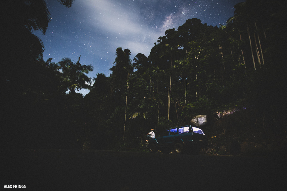 Night base camp at mount warning