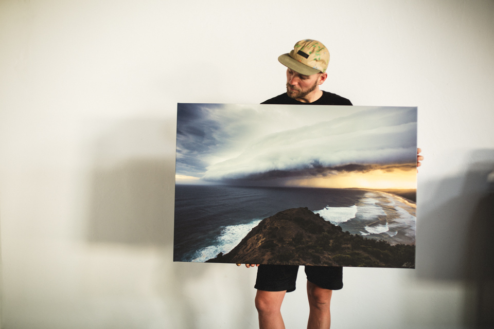Alex Frings Byron Bay Storm Print on Canvas