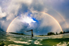 Double Rainbow at The Wreck in Byron Bay