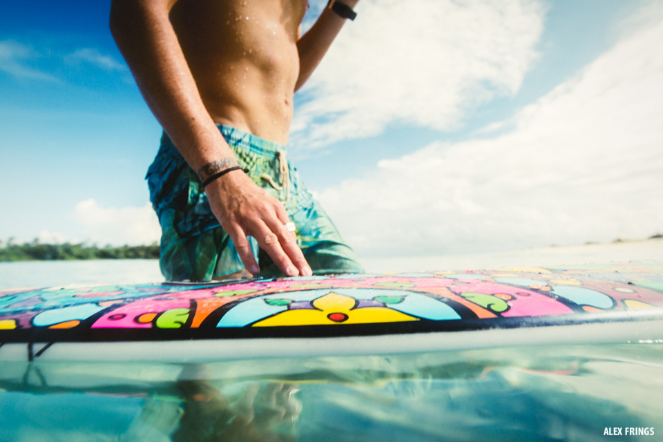 Surfer in Tropical Waters
