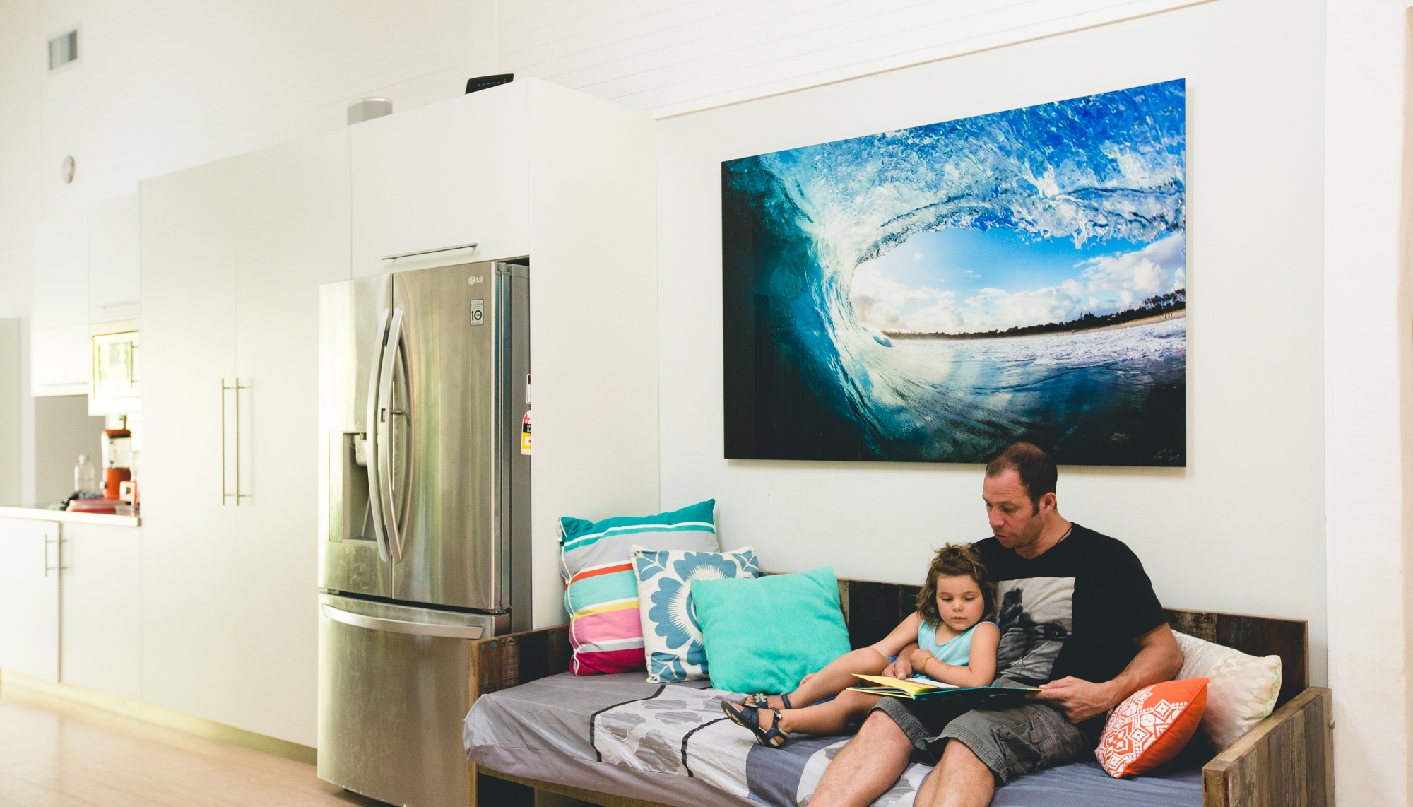 Byron Bay Main Beach wave by Alex Frings Photography as Acrylic Face Mount