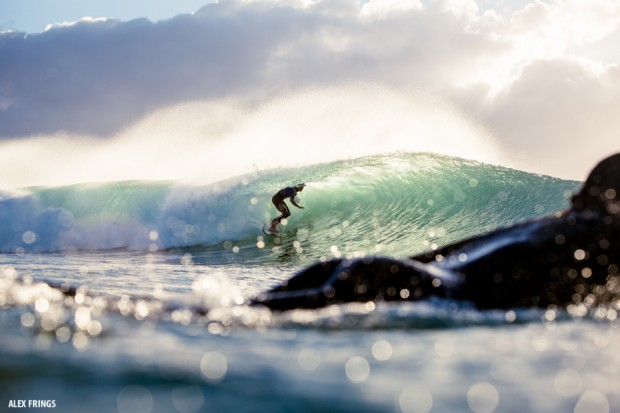Get Joggly watching some getting barrelled in the surf of Byron Bay