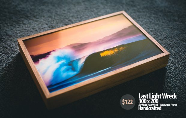 Acrylic Block of The Wreck Byron Bay by Alex Frings photography